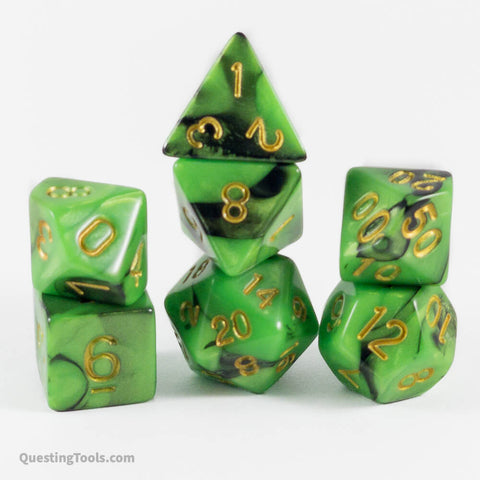 Acid Blood 🩸 Dice - Acrylic Dice - Questing Tools