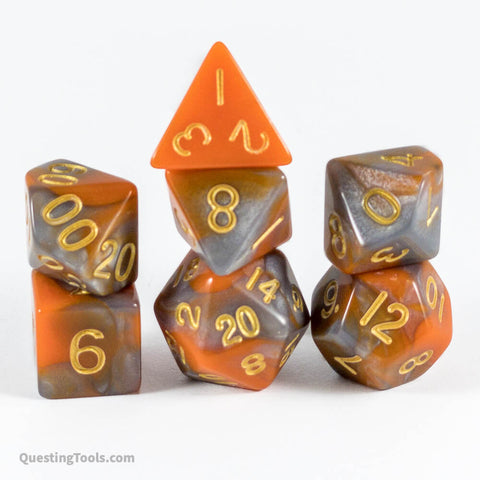 Metallic Rot Dice - Acrylic Dice - Questing Tools