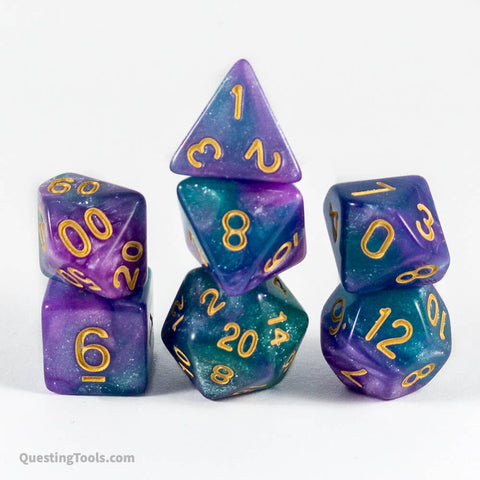 Orion Nebula Dice - Acrylic Dice - Questing Tools