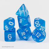Sapphire I ❤️ Dice - Acrylic Dice - Questing Tools