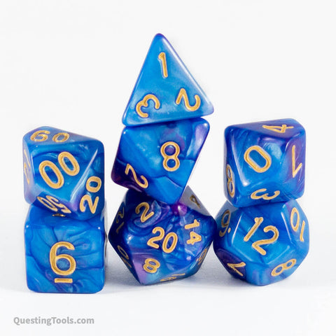 Purple Dawn Dice - Acrylic Dice - Questing Tools