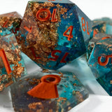 Coral Treasure Dice - Resin Dice - Questing Tools