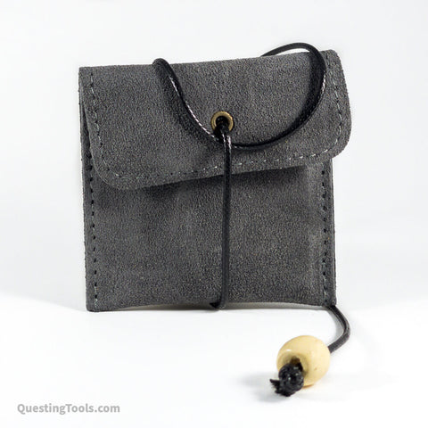 Leather Single Set Dice Pouch - Dice Bags - Questing Tools
