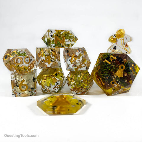 Field of Sunshine Dice - Resin Dice - Questing Tools