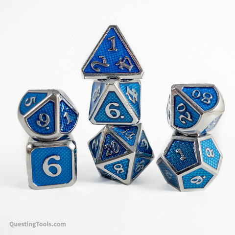 Hydra Dragon Scale Dice - Metal Dice - Questing Tools