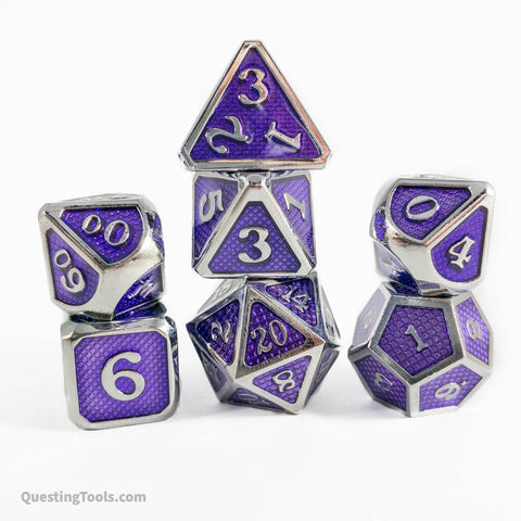 Fae Dragon Scale Dice - Metal Dice - Questing Tools