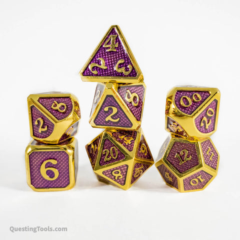 Wyvern Dragon Scale Dice - Metal Dice - Questing Tools