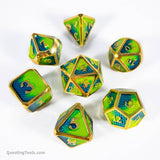 Chameleon Dragonhide Dice - Metal Dice - Questing Tools