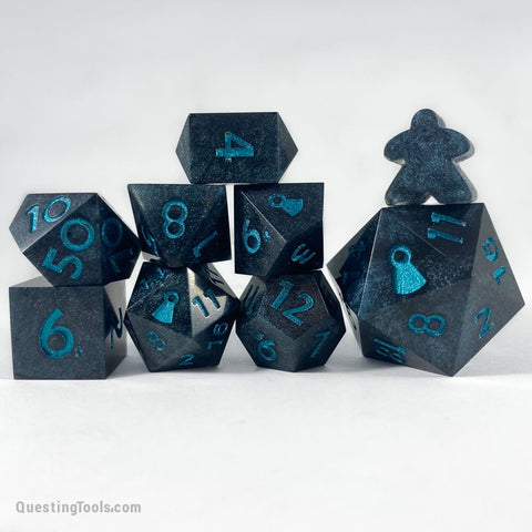 Oceanic Tears Dice - Resin Dice - Questing Tools