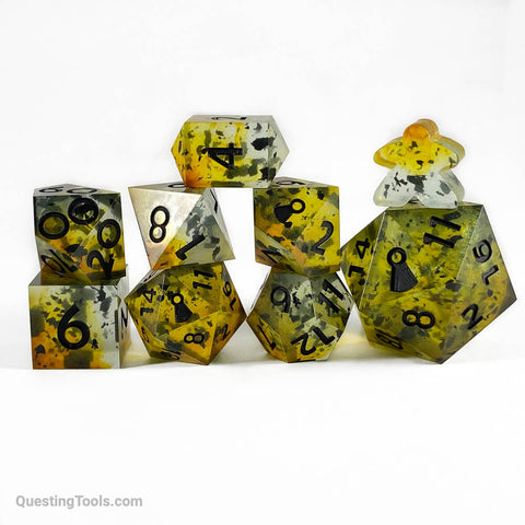 Raven Sunset Dice - Resin Dice - Questing Tools