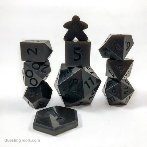 Super Black Dice - Resin Dice - Questing Tools