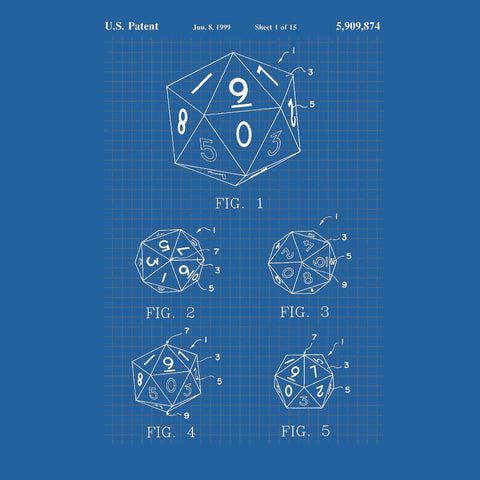 Blueprint D20 - Unisex Tee - Questing Tools
