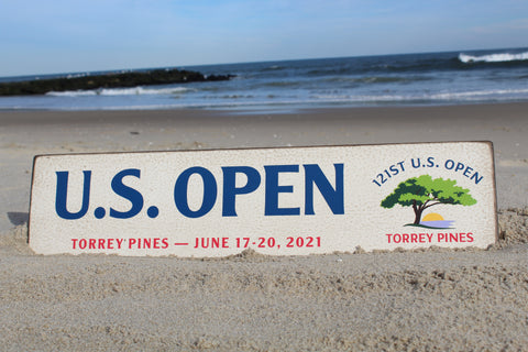 "2021 U.S. Open 6""x24"" Wooden Wall Sign"