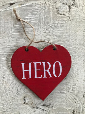 "Hearts for Healthcare Workers - HERO 6"" Heart"