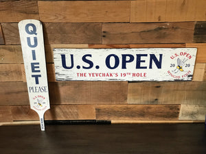 "PERSONALIZE IT! 2020 U.S. Open 19th Hole 6""x24"" Wooden Wall Sign"