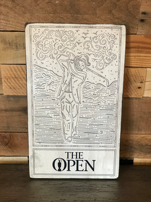 The Open™ Wooden Rectangular Wall Hanging - The Claret Jug Collection