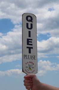 2020 U.S. Open QUIET PLEASE wooden paddle sign