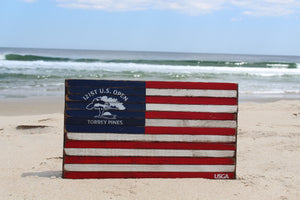 2021 U.S. Open Wooden Flag