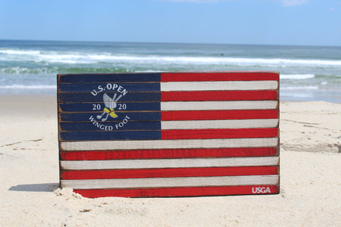 2020 U.S. Open Wooden Flag