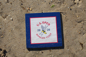 "2020 U.S. Open 8""x8"" Wooden Square Logo Sign"