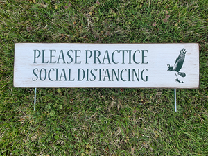 Social Distancing Outdoor Signage (Custom Logo)