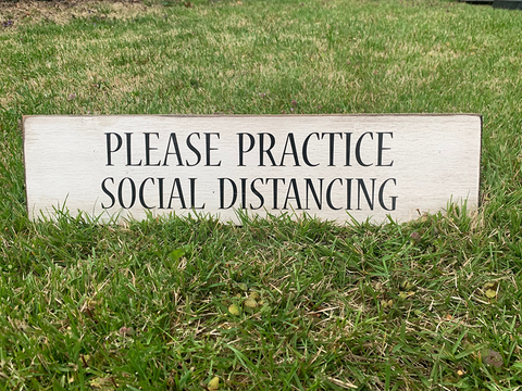 Social Distancing Outdoor Signage