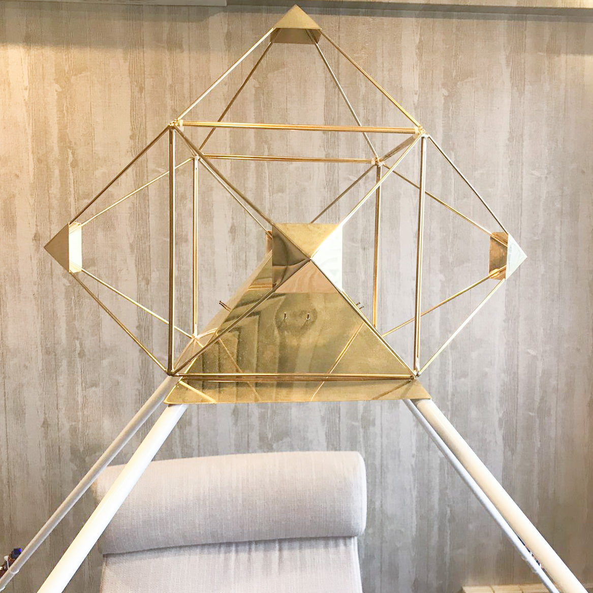 SALE! 1 Set Only - 7' Crystal Ascension Meditation Pyramid System