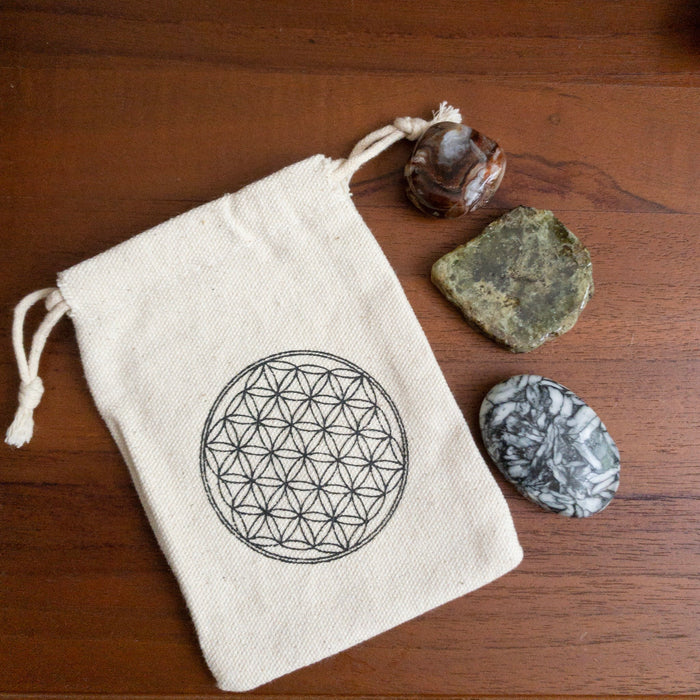 Flower of Life Sacred Geometry Pouch