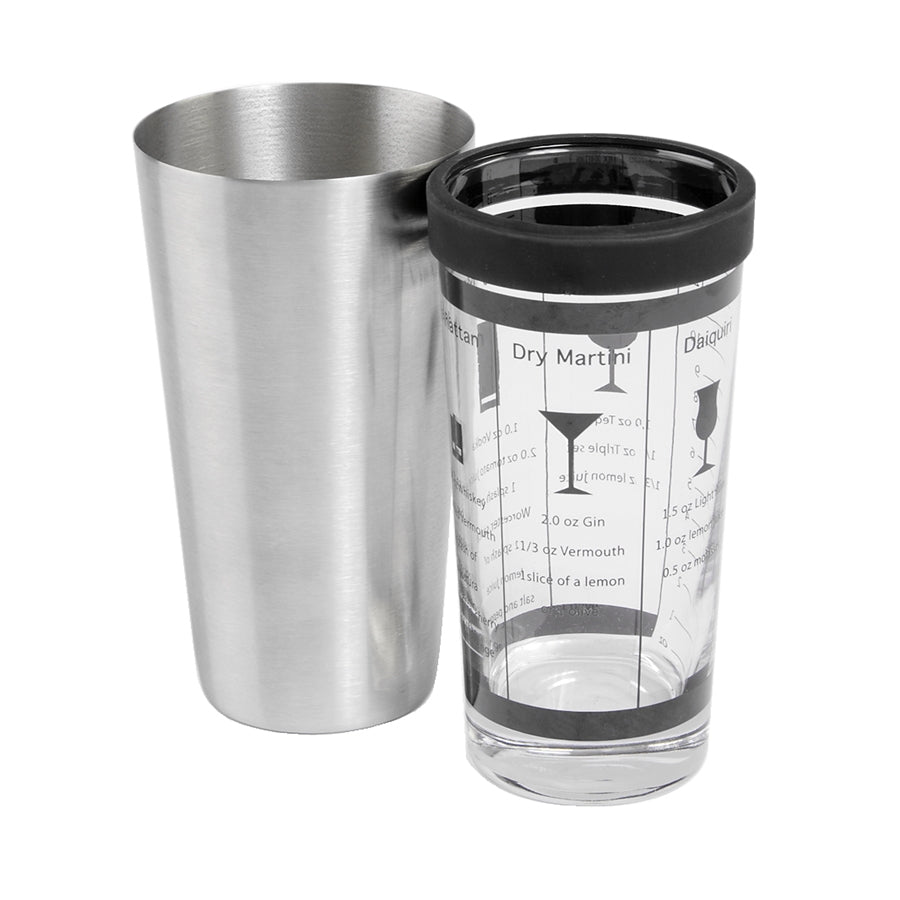 Boston Shaker with Rubber Gasket - Wines N Drinks