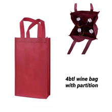 Load image into Gallery viewer, Wine bag reusable 4btls