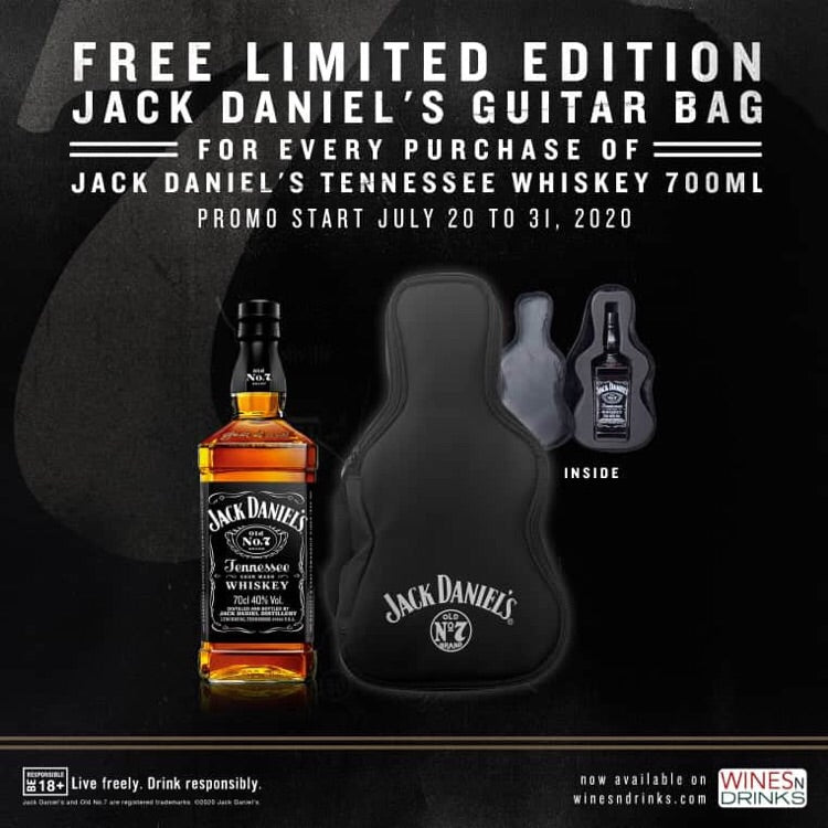 Jack Daniels 700ml with free guitar bag - Wines N Drinks