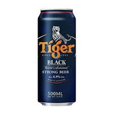 Tiger Strong Black 500ml can
