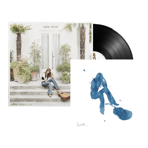 Carla Bruni Exclusive Numbered and Signed Lithograph + LP