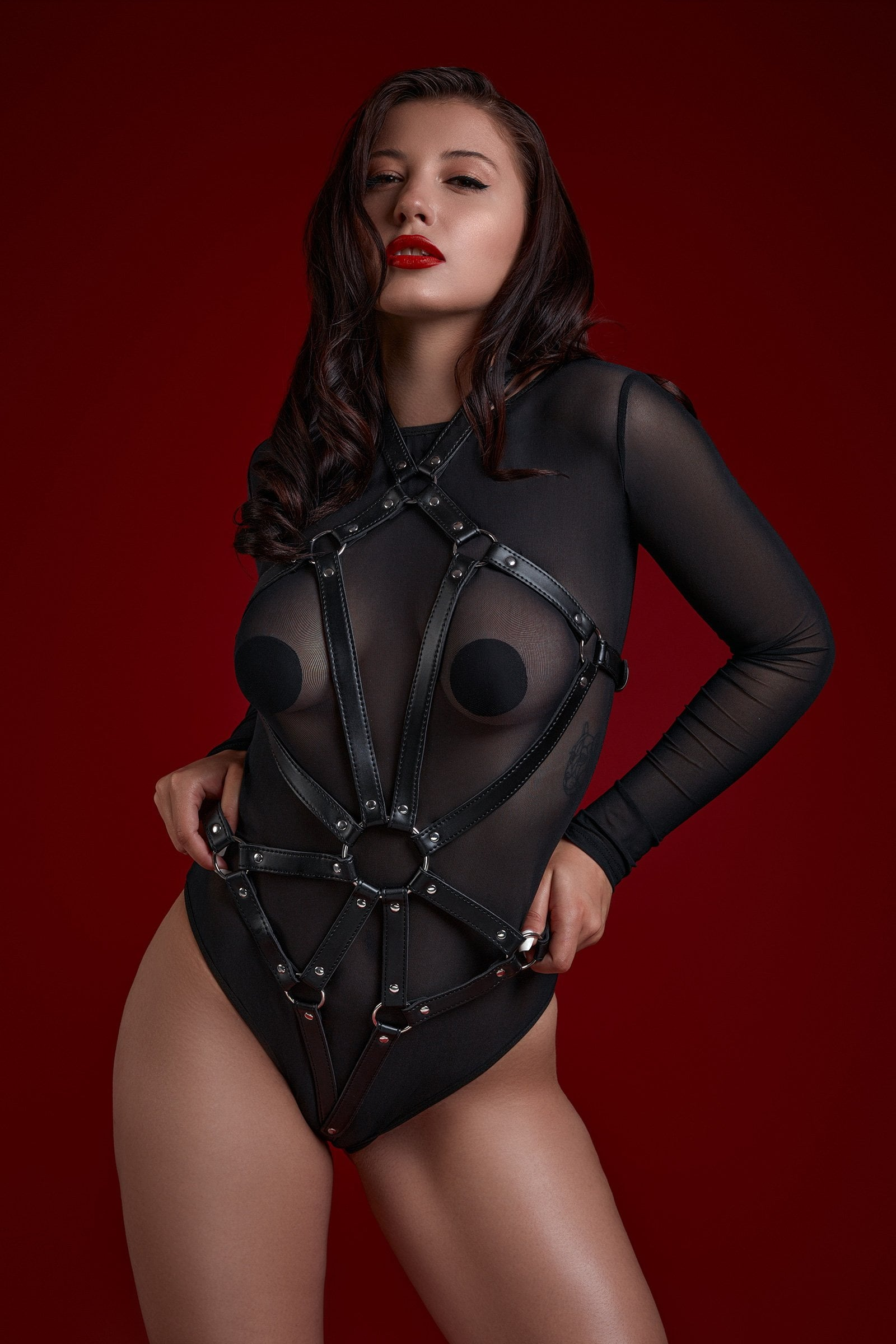 Hestia Leather Bra Set