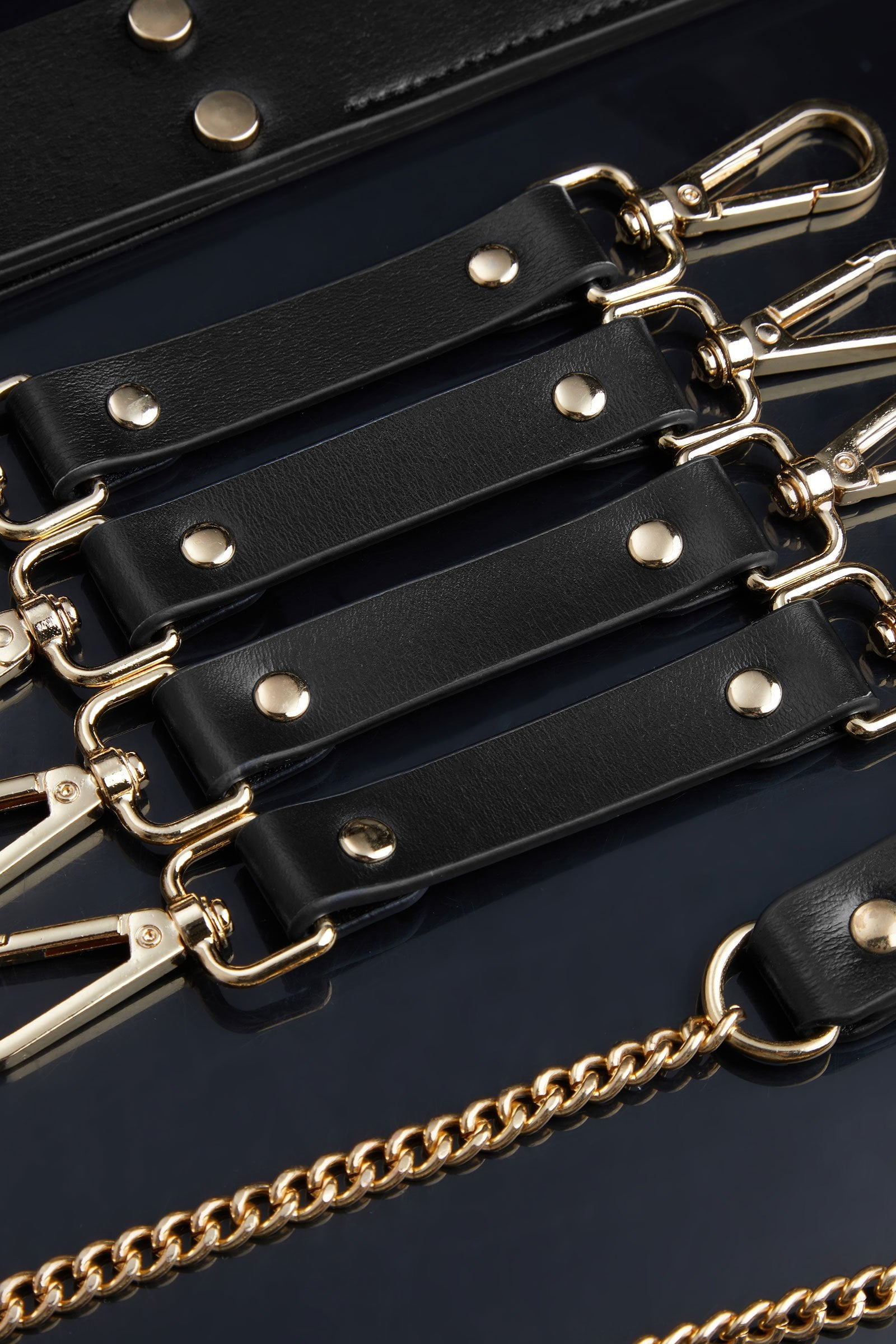 BDSM Luxury 9-pieces Set in Black