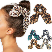 Load image into Gallery viewer, Leopard Hair Scarf Scrunchie