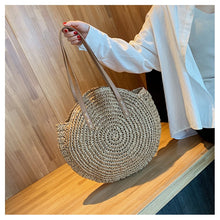 Load image into Gallery viewer, Rattan Boho Beach Bag