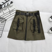 Load image into Gallery viewer, Sasha Military Buckle Skirt
