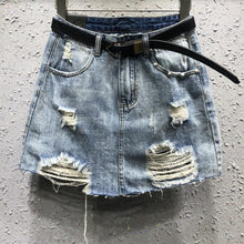 Load image into Gallery viewer, Ripped Denim Skirt