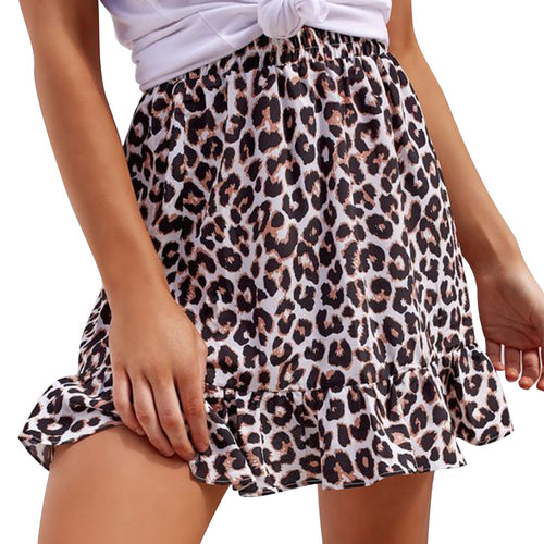 Summer Leopard Skirt
