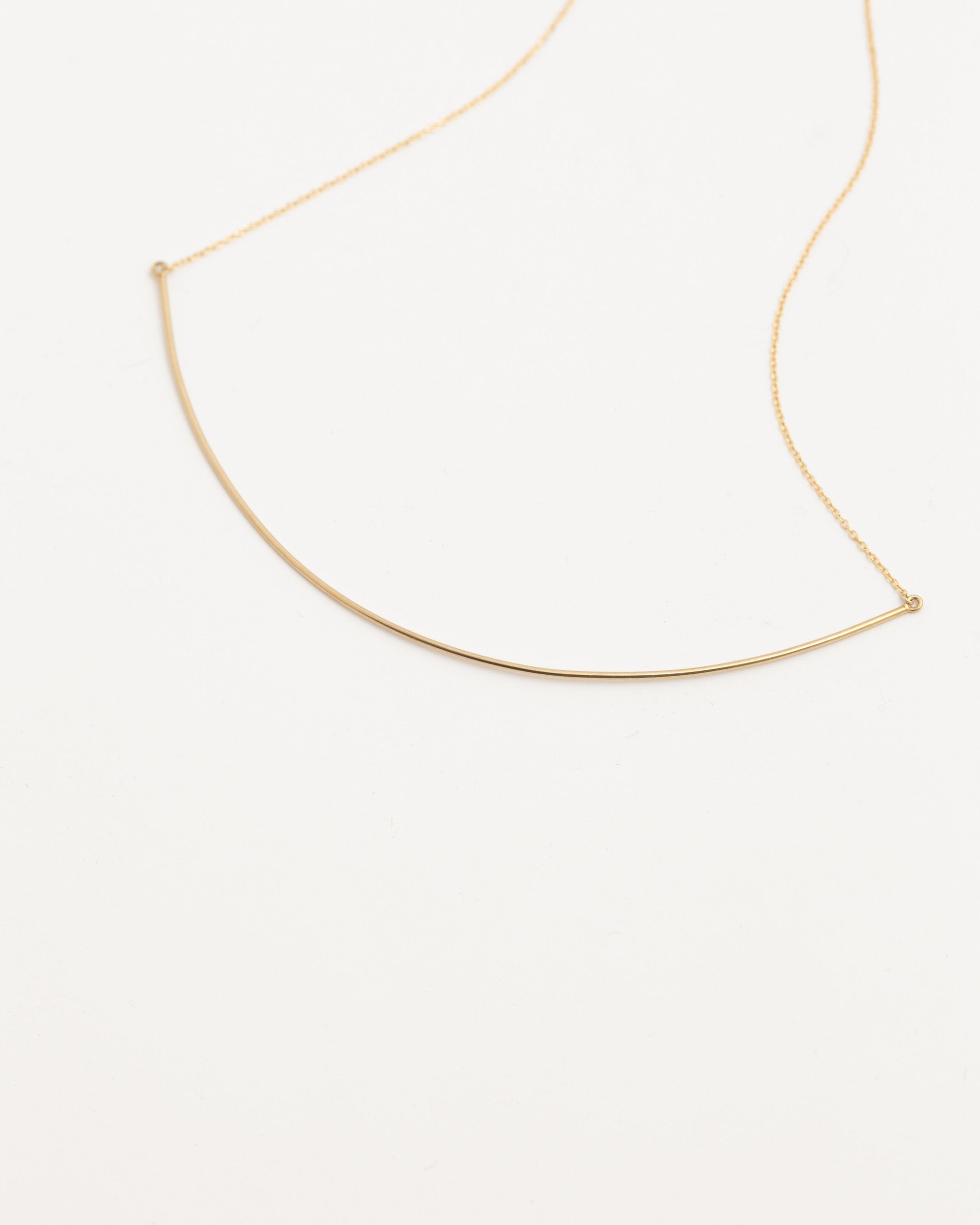 Modern Citizen | Modern Citizen-14K Gold Long Arc Necklace-Necklaces-One Size-Gold- $100