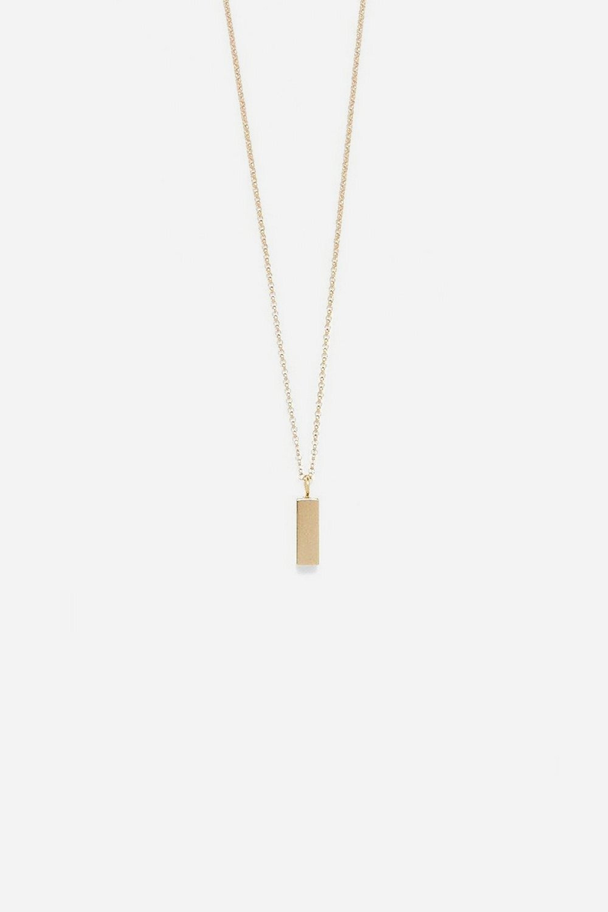 Modern Citizen | Modern Citizen-14K Gold Long Brick Necklace (Gold)-Necklaces-One Size-Gold- $138