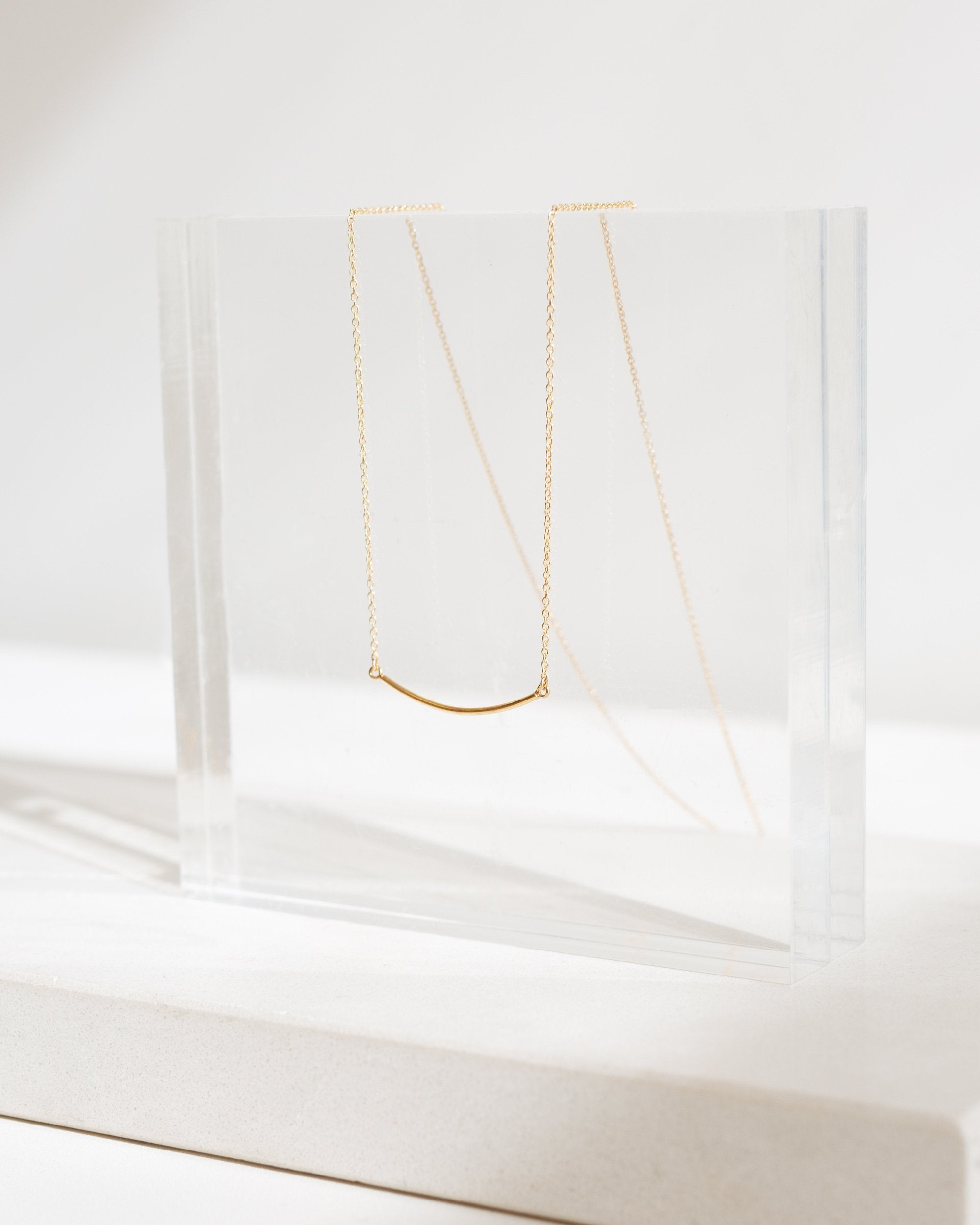 Modern Citizen  |  14K Gold Short Arc Necklace $85