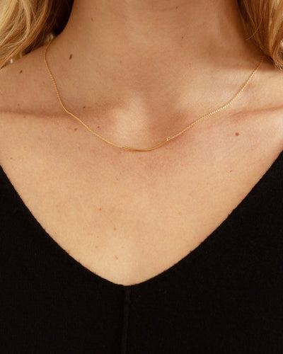 Modern Citizen-14K Gold Short Arc Necklace-Necklaces-One Size-Gold-