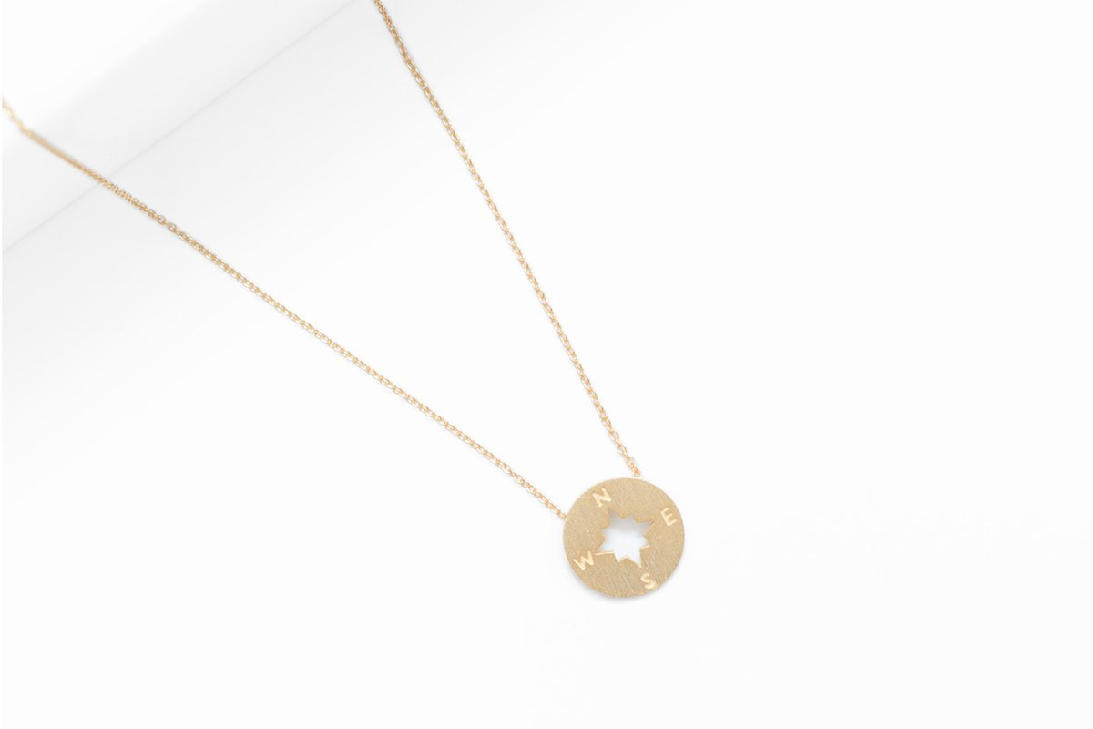 14-Karat Gold Going Places Pendant Necklace