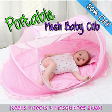 Load image into Gallery viewer, Portable Mesh Baby Crib