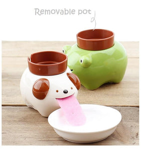 Drinking Animal Planter
