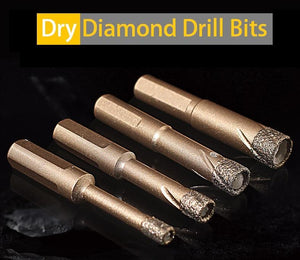 Dry Diamond Drill Bits(1 set consist of 6mm, 8mm, 10mm and 12mm )