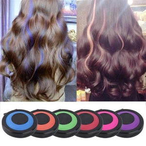 Hair Coloring Pressed Powder ( 6 Colors )