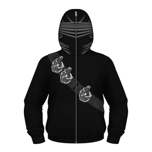 Kids Printed Superhero Collection Zip Hoodies - Snake Eye